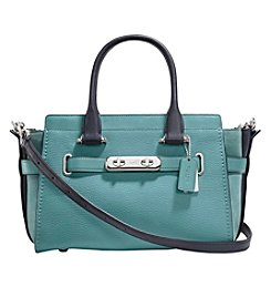 COACH SWAGGER 27 IN COLORBLOCK MIXED LEATHER