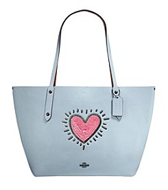 COACH SEQUINS MARKET TOTE IN POLISHED PEBBLE LEATHER
