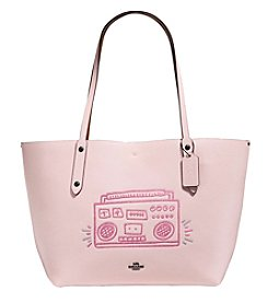 COACH BOOMBOX MARKET TOTE IN POLISHED PEBBLE LEATHER