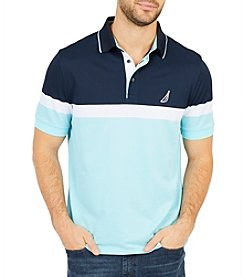 Nautica Men's Big & Tall Engineered Block Polo