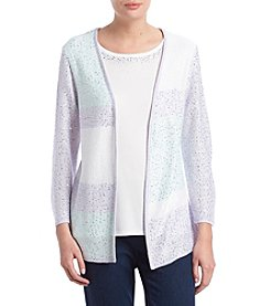 Alfred Dunner Colorblock Two For One Sweater