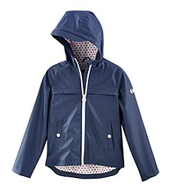 Michael Kors Girls' 7-16 Matte Rain Slicker