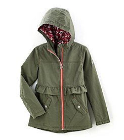 Michael Kors Girls' 7-16 Brushed Cotton Anorak
