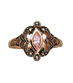 Marsala Rose Gold Plated Ring