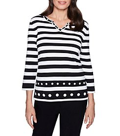Alfred Dunner Petites' Stripe Sweater