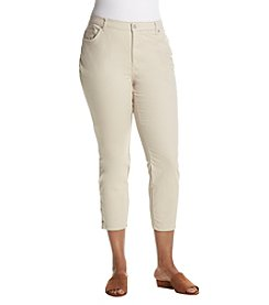 Gloria Vanderbilt Plus Size Amanda Ankle Snap Hem Twill Pants