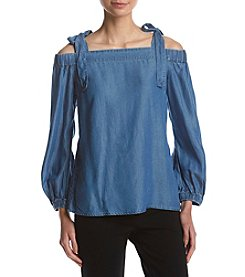 MICHAEL Michael Kors Off The Shoulder Denim Top