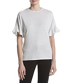 MICHAEL Michael Kors Lurex Pattern Bell Sleeve Top