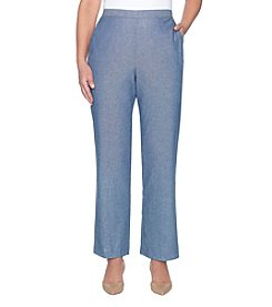 Alfred Dunner Stretch Wide Leg Pants