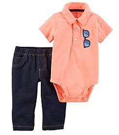 Carter's Baby Boys' 0M-24M 2 Piece Neon Sunglass Bodysuit And Pants Set
