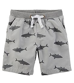 Carter's Boys' 2T-8 Shark Print Easy Pull On Dock Shorts