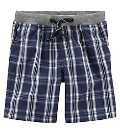Carter's Boys' 2T-8 Plaid Ribbed Shorts