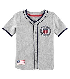 Carter's Boys' 2T-8 Short Sleeve Americana Baseball Tee