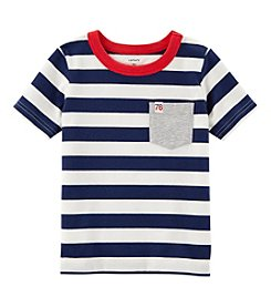 Carter's Boys' 2T-8 Striped Pocket Tee