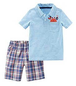 Carter's Boys' 2T-5T 2-Pc.Short Sleeve Crab Pocket Tee And Shorts Set