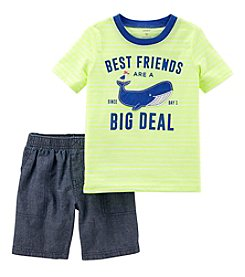 Carter's Boys' 2T-5T 2-Pc. Best Friends Tee And Shorts Set