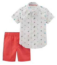 56f39467a Carter's Boys' 2T-5T 2-Pc. Print Button Front Top And Shorts
