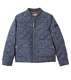 Michael Kors Boys' 8-20 Denim Print Quilted Jacket