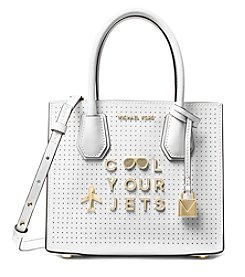 MICAHEL Michael Kors Mercer Cool Your Jets Perforated Leather Crossbody