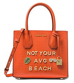 MICHAEL Michael Kors Mercer Not Your Average Beach Perforated Leather Crossbody