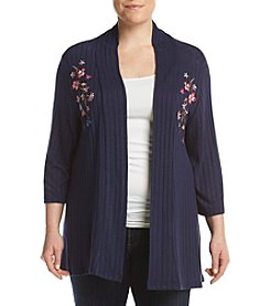 Studio Works Plus Size Embroidered Cardigan