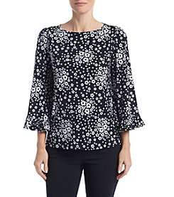 MICHAEL Michael Kors Floral Flare Sleeve Top