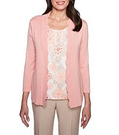 Alfred Dunner Petites' Medallion Two For One Sweater
