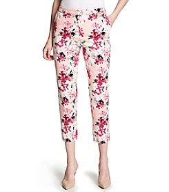 Calvin Klein Floral Pattern Straight Leg Ankle Pants