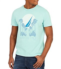Nautica Men's Short Sleeve Palm Printed Tee