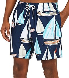 Nautica Men's Sailboat Print Trunk