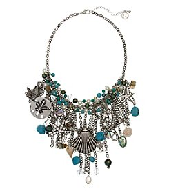Erica Lyons Silvertone Sea Statement Necklace