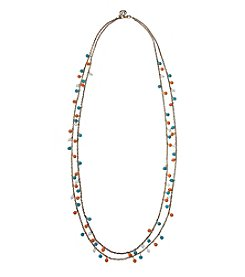 Erica Lyons Goldtone Long Double Row Necklace