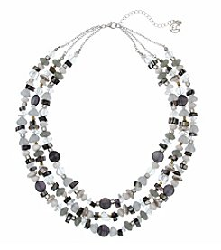 Erica Lyons On The Rocks Triple Row Beaded Necklace