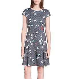 Tommy Hilfiger Poppy Printed Fit and Flare Dress