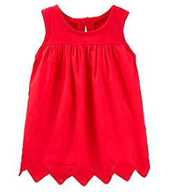 OshKosh B'Gosh Girls' 2T-5T Eyelet Trim Tank Top With Lace