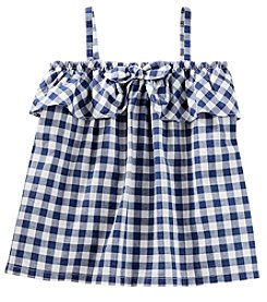 OshKosh B'Gosh Girls' 2T-5T Gingham Poplin Tank