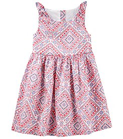OshKosh B'Gosh Girls' 2T-5T Sleeveless Bandana Print Dress