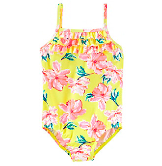 31b62080979 OshKosh B'Gosh Girls' 4-8 Floral Swell One Piece Swimsuit | Younkers