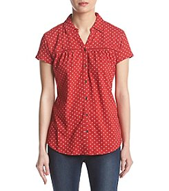 Ruff Hewn Petites' Floral Pattern Button Up Front Closure