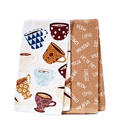 Chef's Quarters Coffee Cookery 2-Pack Kitchen Towels