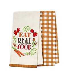 Chef's Quarters Eat Real Food 2 Pack Kitchen Towels