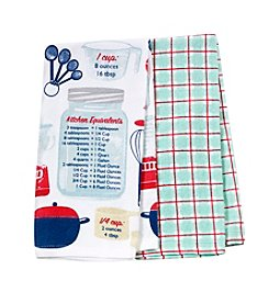Chef's Quarters Conversion Cookery 2-Pack Kitchen Towels