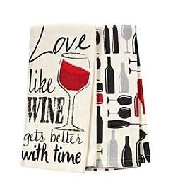 Chef's Quarters Love Like Wine 2-Pack Kitchen Towels