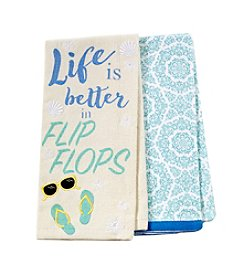Chef's Quarters Life Is Better 2 Pack Kitchen Towels