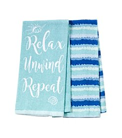 Chef's Quarters Relax Unwind Repeat 2-Pack Kitchen Towels