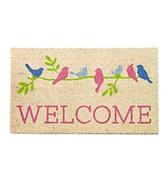 Living Quarters Welcome Birds Coir Mat