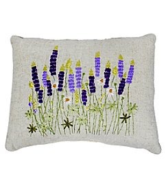 Living Quarters Lavender Ribbon Decorative Pillow