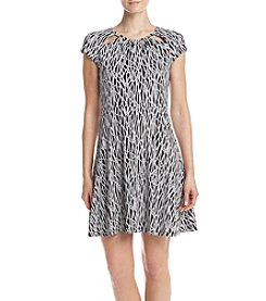 MICHAEL Michael Kors Rope Shirred-Neck Dress