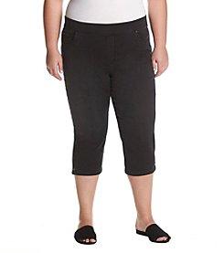 ab99bffe5036b Gloria Vanderbilt Plus Size Avery Pull-On Denim Capri Pants