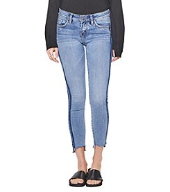 Silver Jeans Co. Aiko Side Stripe Step Hem Skinny Ankle Jeans